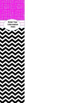 Editable Binder Covers (Pink/Black/Gray)