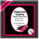 Editable Binder Covers - Polka Dot