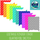 Editable Binder Covers: Quatrefoil Sketch