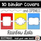 Editable Binder Covers - Rainbow Dots