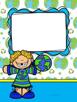 Editable Binder Covers (Recycle - Earth Conservation Theme)