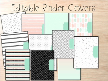 Editable Binder Covers- Set of 11 Hello Design with Matching Spines
