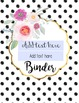 Editable Binder Covers- Set of 7 Gems and Bouquets