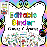Editable Binder Covers & Spines {42 designs with matching spines}
