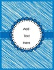 Editable Binder Covers & Spines {Blue}