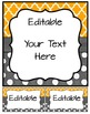 Editable Binder Covers, Spines & Labels - Orange and Charcoal
