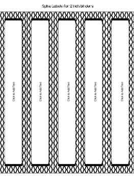 Editable Binder Covers & Spines in Black & White - Part 1