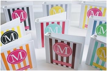Classroom Decor Editable Binder Covers - Striped