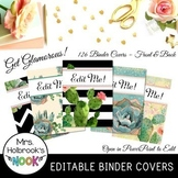 Editable Binder Covers BUNDLE - Succulents & Cacti