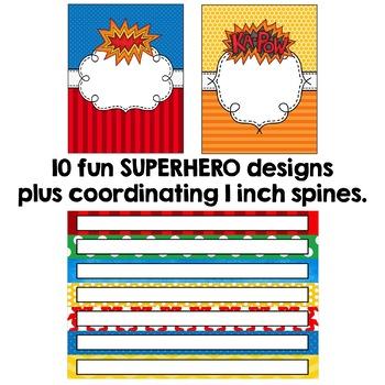 Editable Binder Covers - Superhero Themed