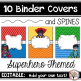 Editable Binder Covers - Superhero Themed