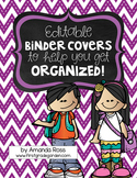 Editable Binder Covers {To Help You Get Organized!}