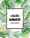 Editable Binder Covers -Tropical Palms