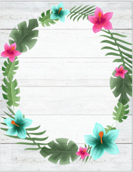 Editable Binder Covers - Tropical Theme