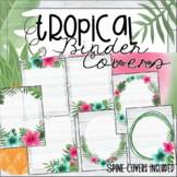 Editable Binder Covers - Tropical Theme