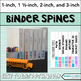 Editable Binder Covers - Watercolor Squares