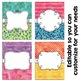 Editable Binder Covers - Watercolors