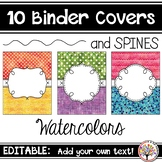 Editable Binder Covers - Watercolors