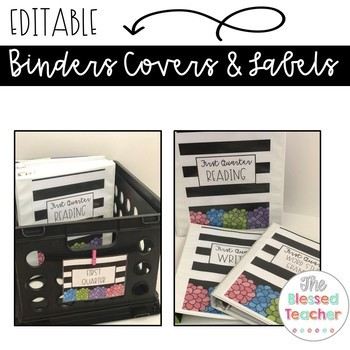 Editable Binder Covers and Labels