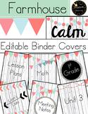 Editable Binder Covers and Spine - Farmhouse Calm Whitewash