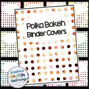 Editable Binder Covers and Spines with 10 Polka Bokeh Options