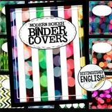 Editable Binder Covers and Spines with 15 Modern Bokeh Styles