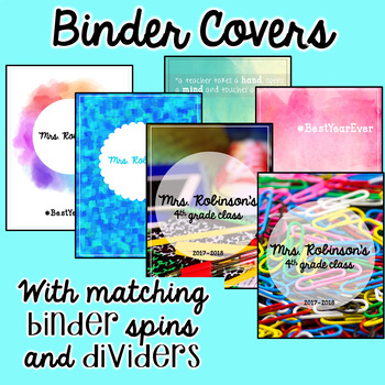 Editable Binder Covers and Spines