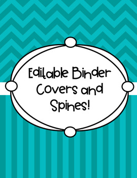 editable binder covers and spines by texas teacher toolbox tpt