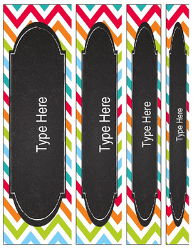 Editable Binder Covers and Spines {Chevron Chic: Chalkboard and White}