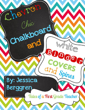 Editable Binder Covers and Spines {Chevron Chic: Chalkboar