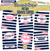 Editable Binder Covers and Spines ~ Flowers and Stripes ~