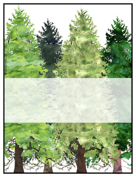 Editable Binder Covers and Spines - Forest / Camping Theme
