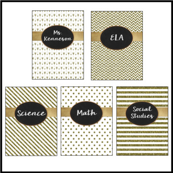 Editable Binder Covers and Spines - Glitter