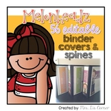 56 Editable Binder Covers and Spines { Melonheadz Theme }