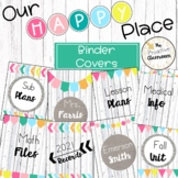Editable Binder Covers and Spines   Our Happy Place Classr