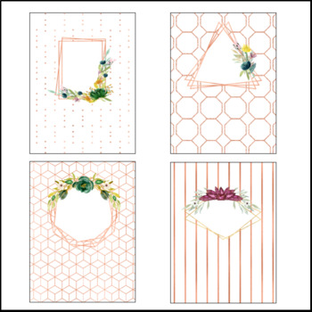 Editable Binder Covers and Spines - Rose Gold