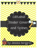 Editable Binder Covers and Spines {School Theme}