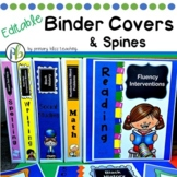 Editable Binder Covers and Spines (Subject-Related and Generic Options)