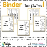 Editable Binder Covers and Spines Templates 1 - Hadasa's K