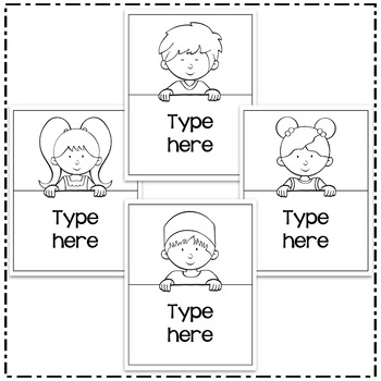 Editable Binder Covers and Spines Templates 2 - Hadasa's Kids Edition