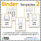 Editable Binder Covers and Spines Templates 2 - Hadasa's K