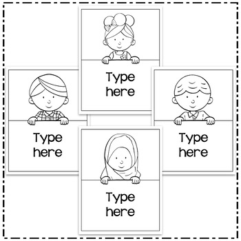 Editable Binder Covers and Spines Templates 3 - Hadasa's Kids Edition