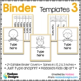 Editable Binder Covers and Spines Templates 3 - Hadasa's K