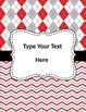 Editable Binder Covers and Spines in Red and Gray