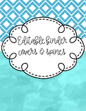 Editable Binder Covers and Spines-water colors