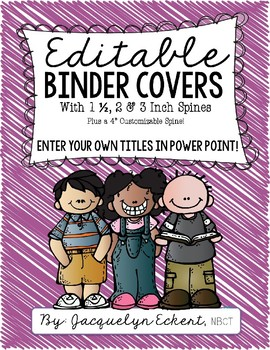 Editable Binder Covers by Subject with Melonheadz Clipart