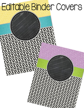 Editable Binder Covers (greek black base)