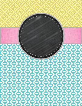 Editable Binder Covers (greek green base)