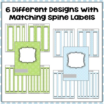 Editable Binder Covers and Spines in Blue and Green with Owls Part 2