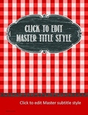 Editable Binder Covers in Gingham Check
